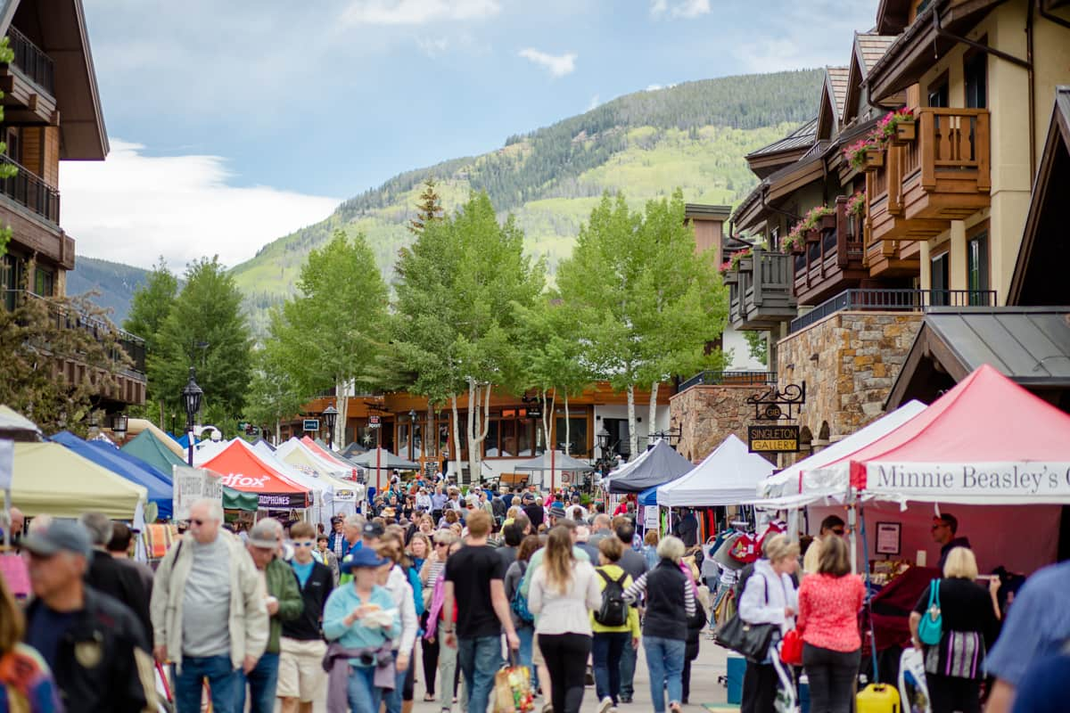 Vail Farmers Market & Art Show in Vail Village